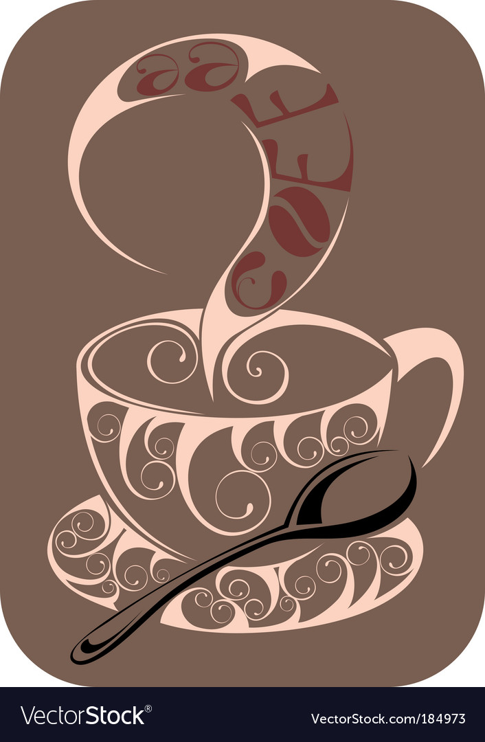 Coffeetea design vector | Price: 1 Credit (USD $1)