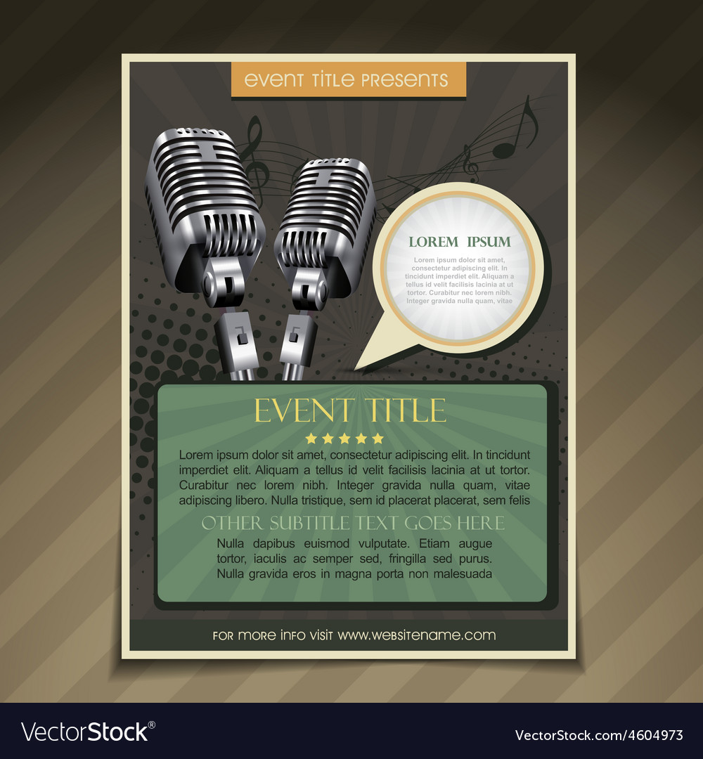 Event poster template vector | Price: 1 Credit (USD $1)