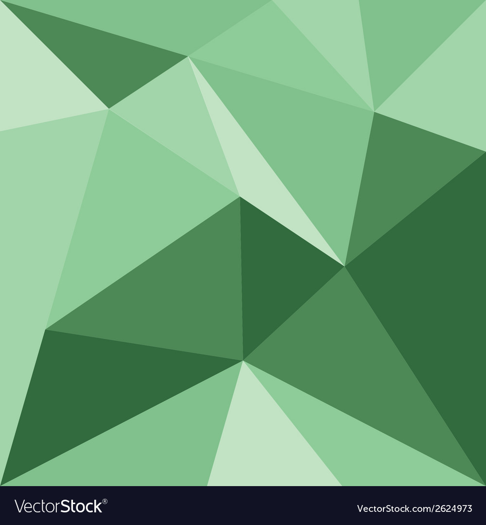 Green triangle background or flat pattern vector | Price: 1 Credit (USD $1)