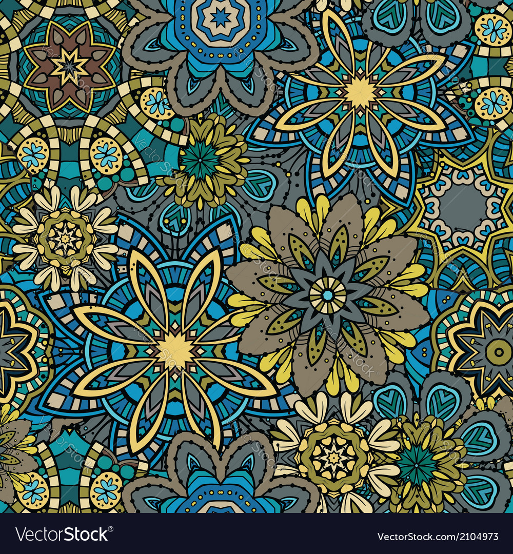 Ornamental floral seamless pattern vector   Price: 1 Credit (USD $1)