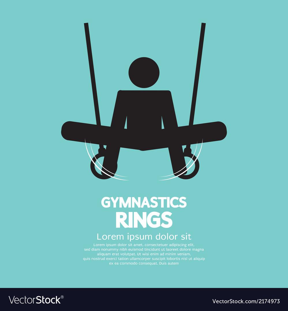 Rings gymnastics vector | Price: 1 Credit (USD $1)