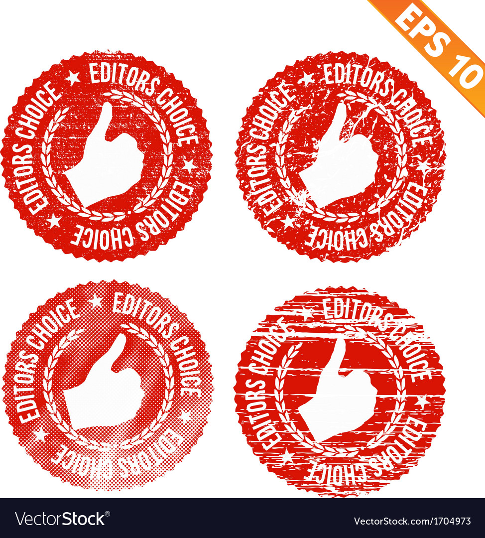 Rubber stamp editor choice - - eps10 vector | Price: 1 Credit (USD $1)