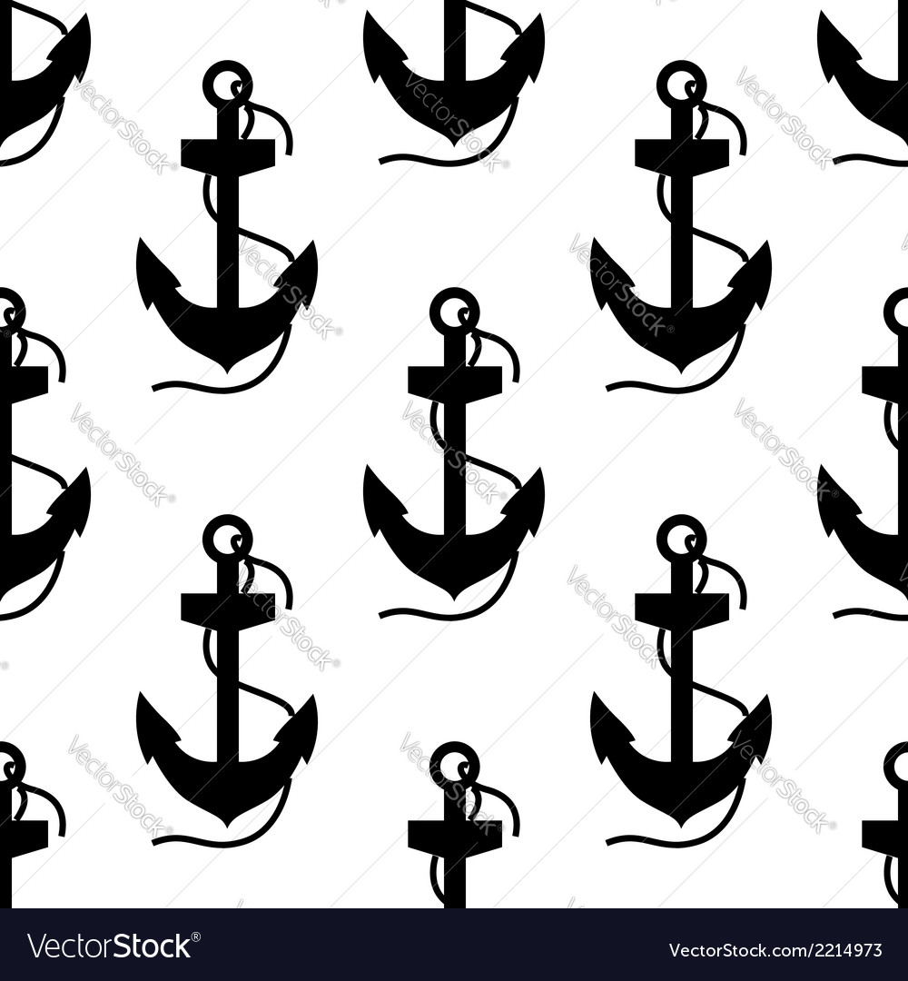 Seamless pattern of ships anchors vector | Price: 1 Credit (USD $1)