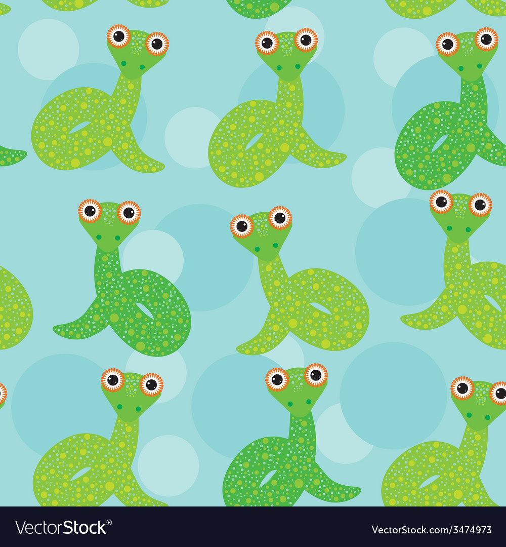 Snake on a blue background seamless pattern vector | Price: 1 Credit (USD $1)
