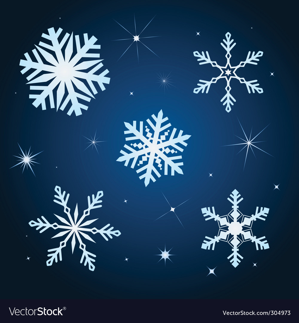 Snowflake winter set illustration vector | Price: 1 Credit (USD $1)