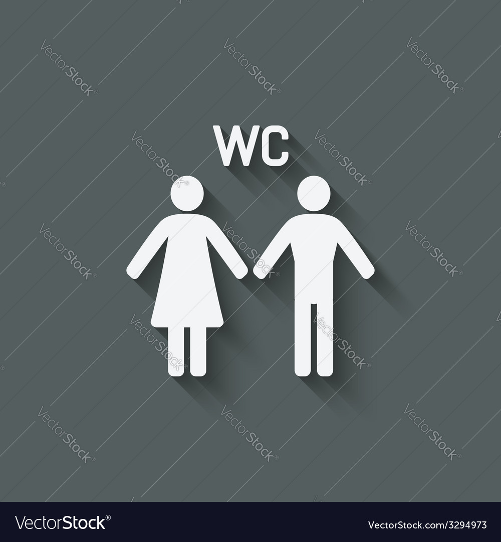 Wc male and female symbol vector | Price: 1 Credit (USD $1)