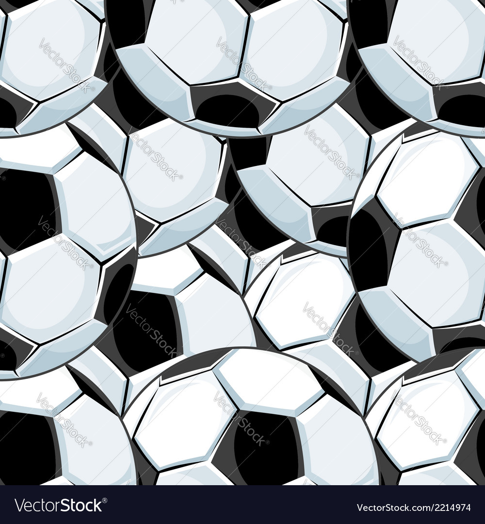 Background pattern of overlapping soccer balls vector | Price: 1 Credit (USD $1)