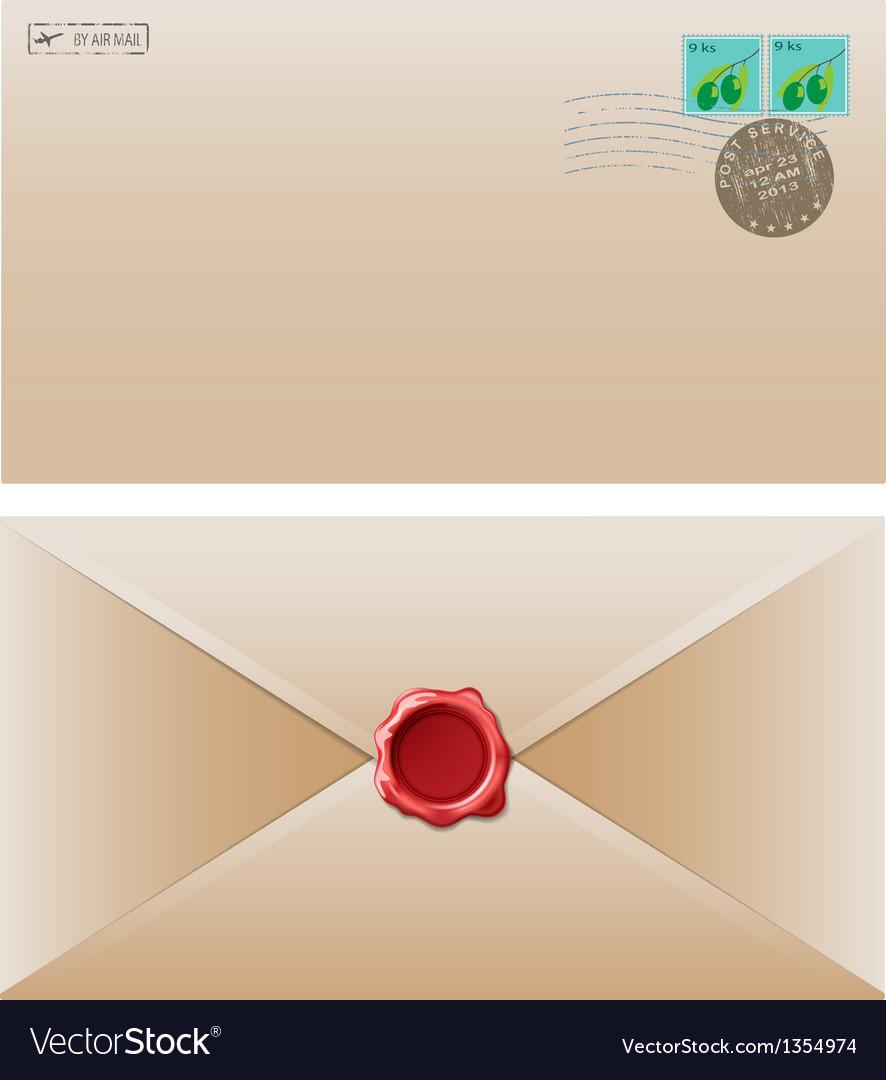 Envelope brown vector | Price: 1 Credit (USD $1)