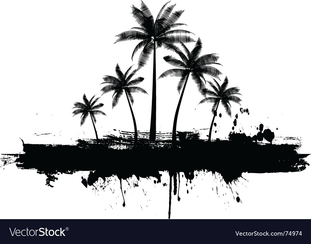 Grunge palm trees vector | Price: 1 Credit (USD $1)
