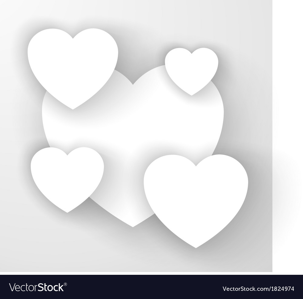 Heart applique background vector | Price: 1 Credit (USD $1)
