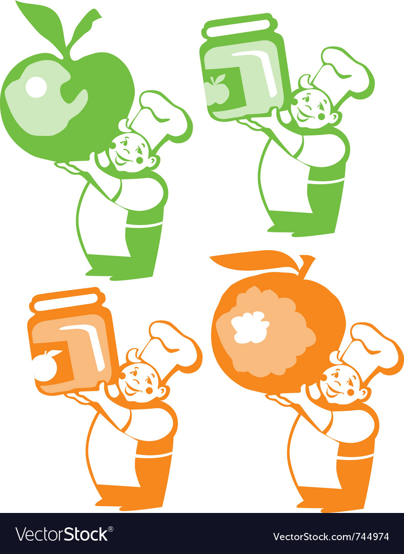 Jam jar stickers vector | Price: 1 Credit (USD $1)