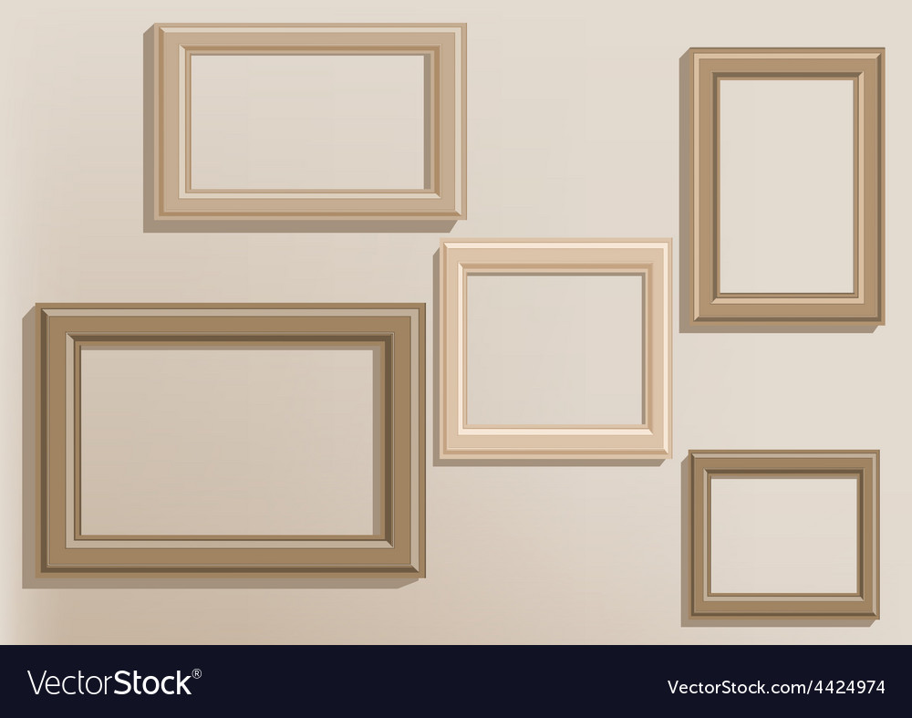 Picture frames on wall vector | Price: 1 Credit (USD $1)