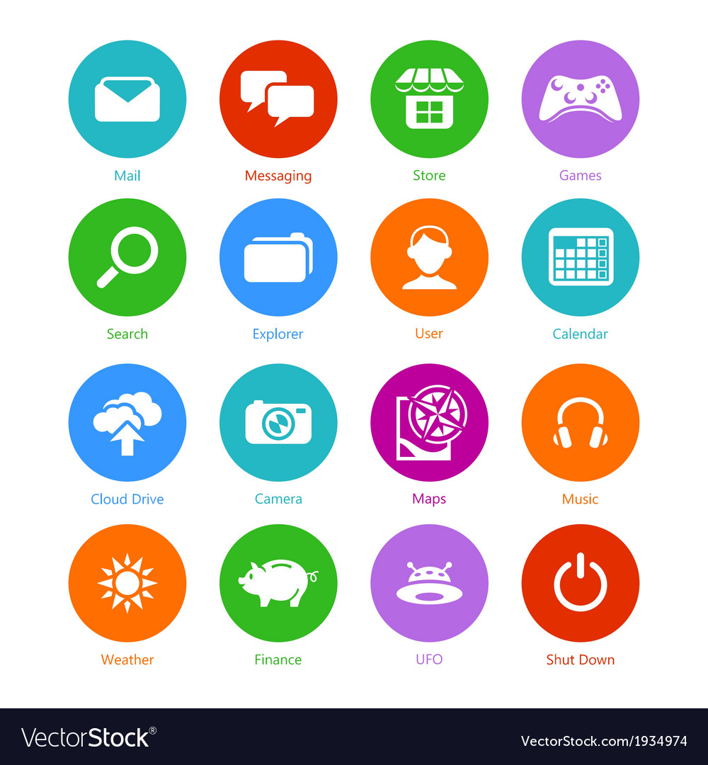 System flat icons - set i vector | Price: 1 Credit (USD $1)