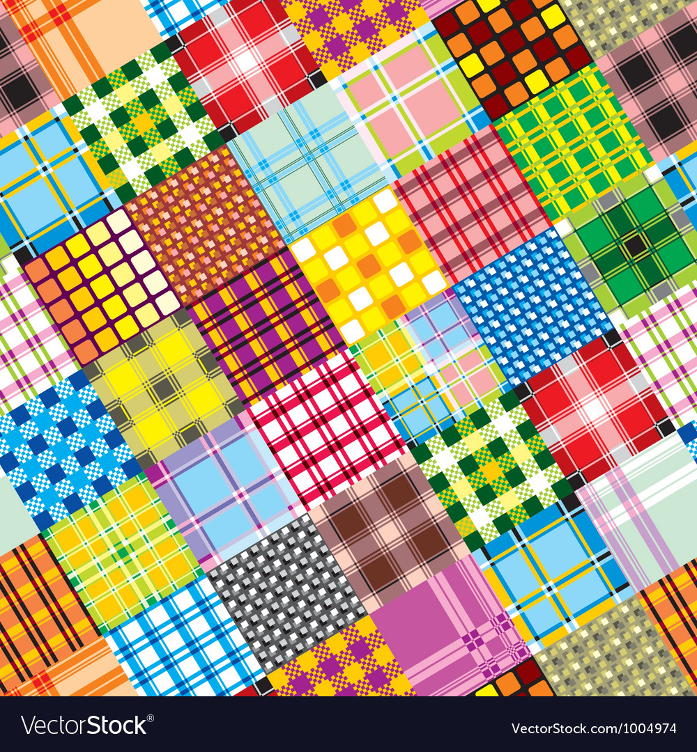 Textile patchwork square vector | Price: 1 Credit (USD $1)