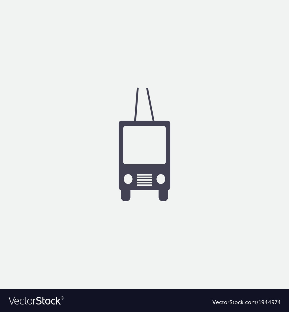 Trolleybus icon vector | Price: 1 Credit (USD $1)