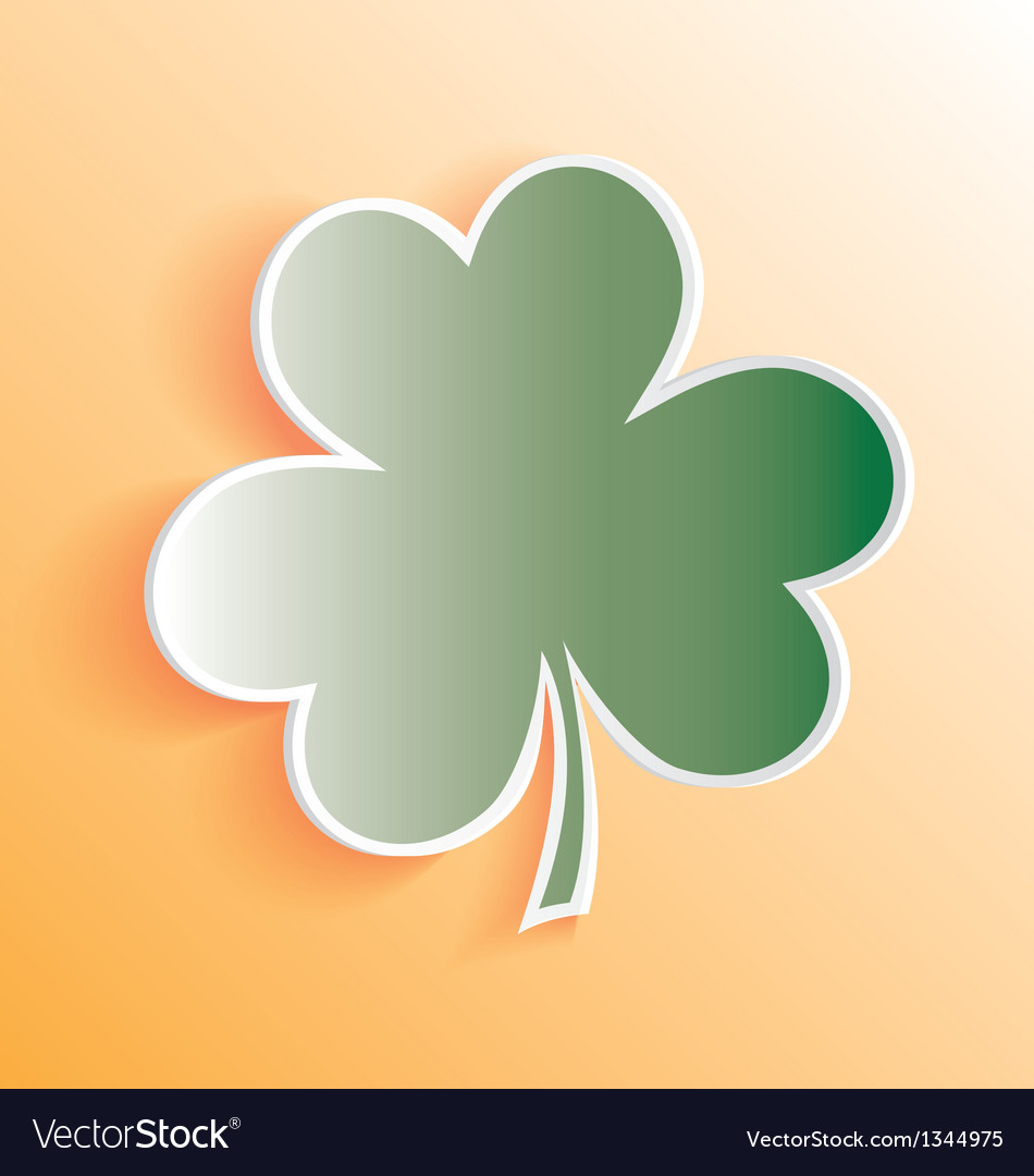 3d clover sticker peeling away vector | Price: 1 Credit (USD $1)