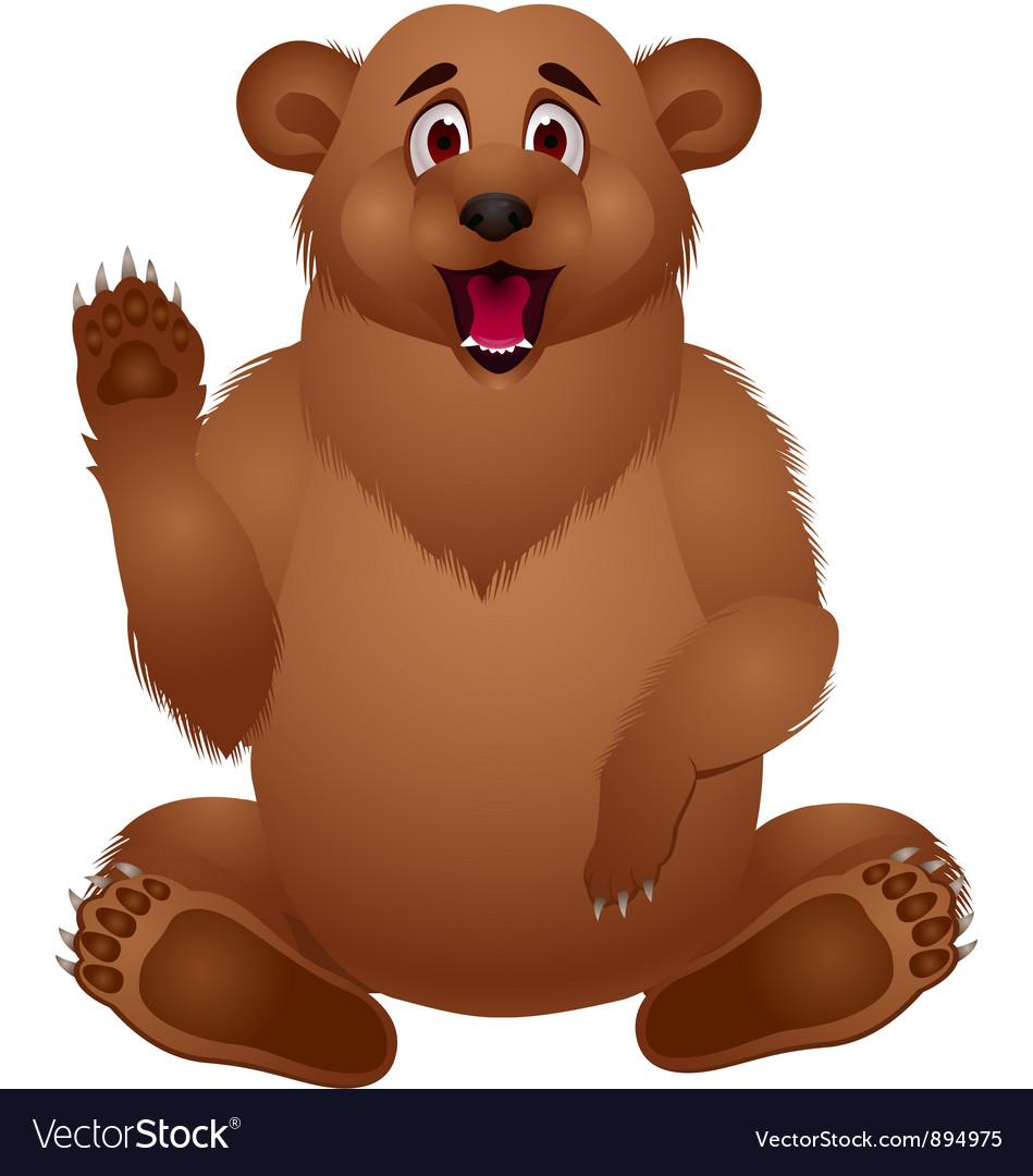 Brown bear cartoon vector | Price: 3 Credit (USD $3)