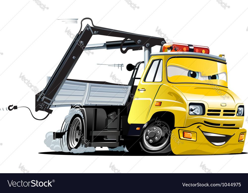 Cartoon tow truck vector | Price: 3 Credit (USD $3)