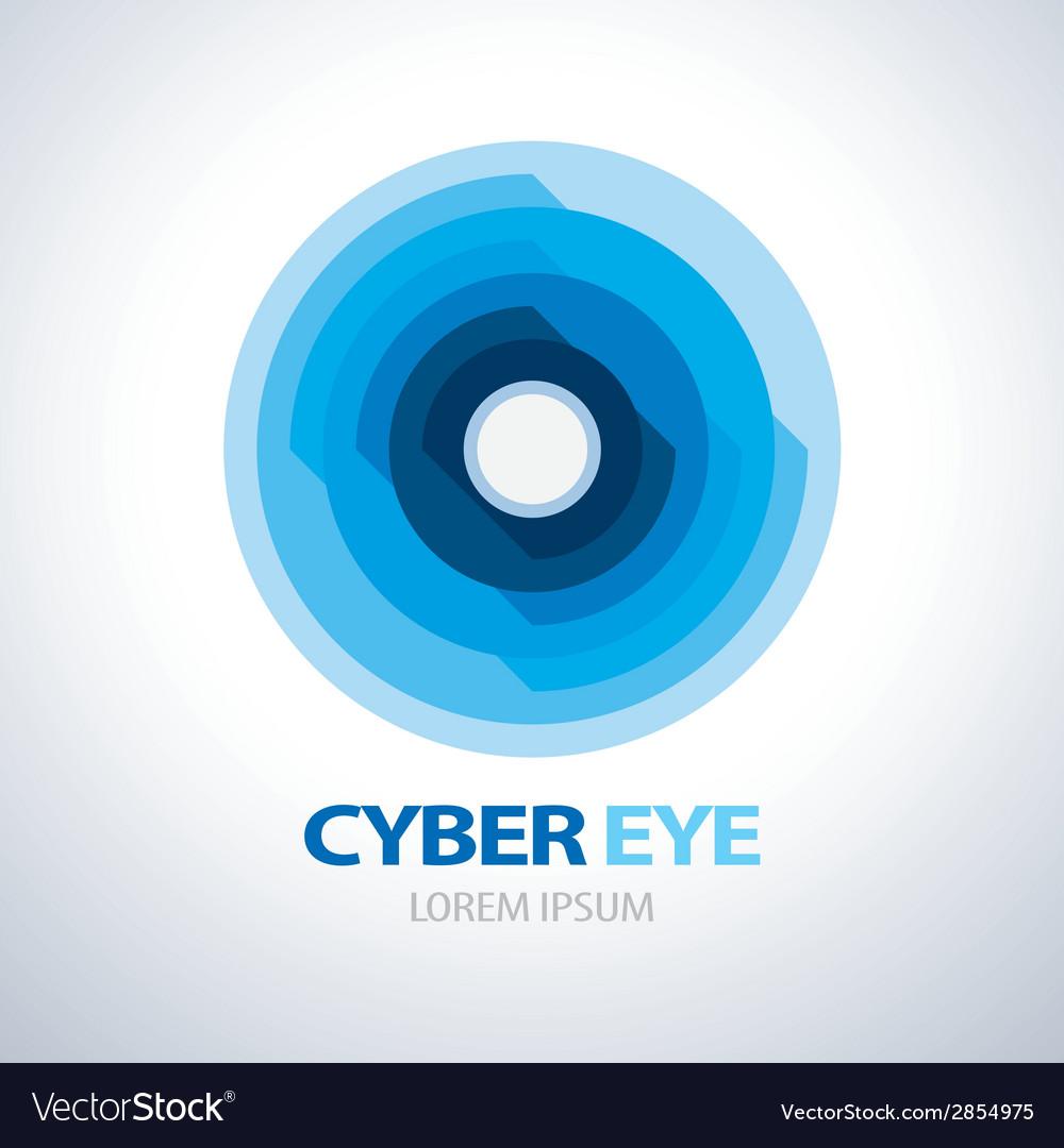 Cyber eye symbol icon vector | Price: 1 Credit (USD $1)