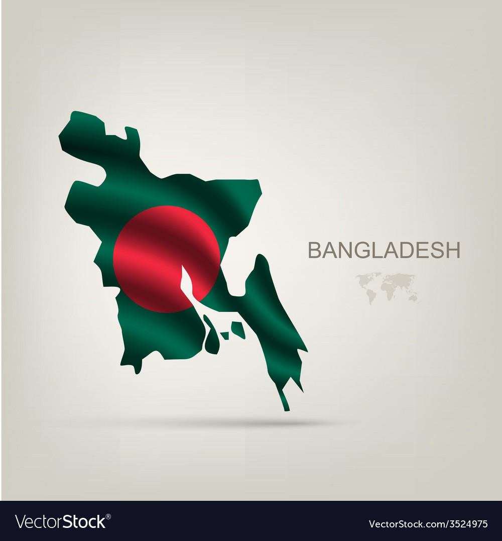 Flag of bangladesh as a country vector | Price: 1 Credit (USD $1)