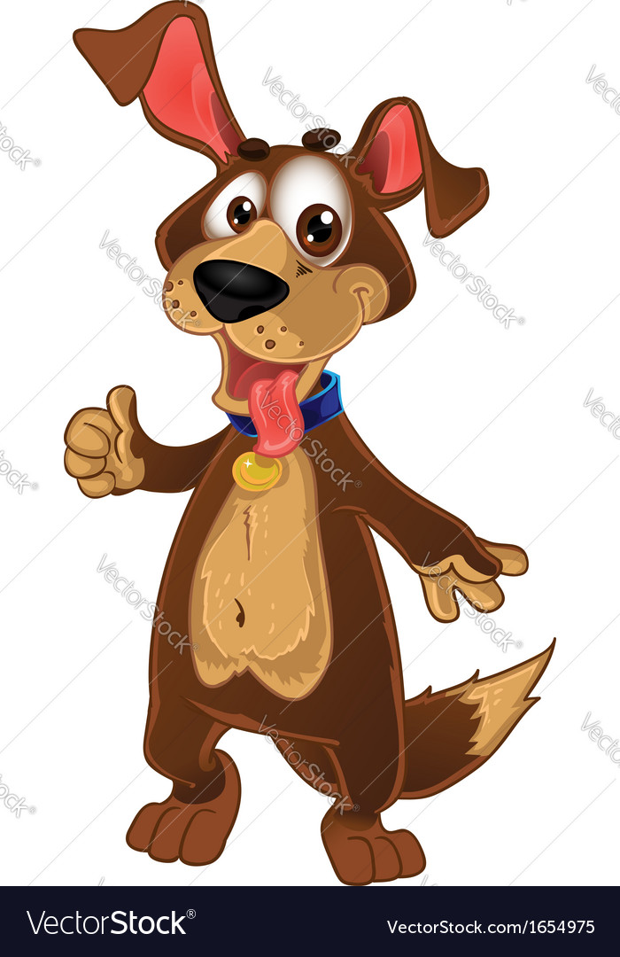 Fun dog show all is ok vector | Price: 1 Credit (USD $1)