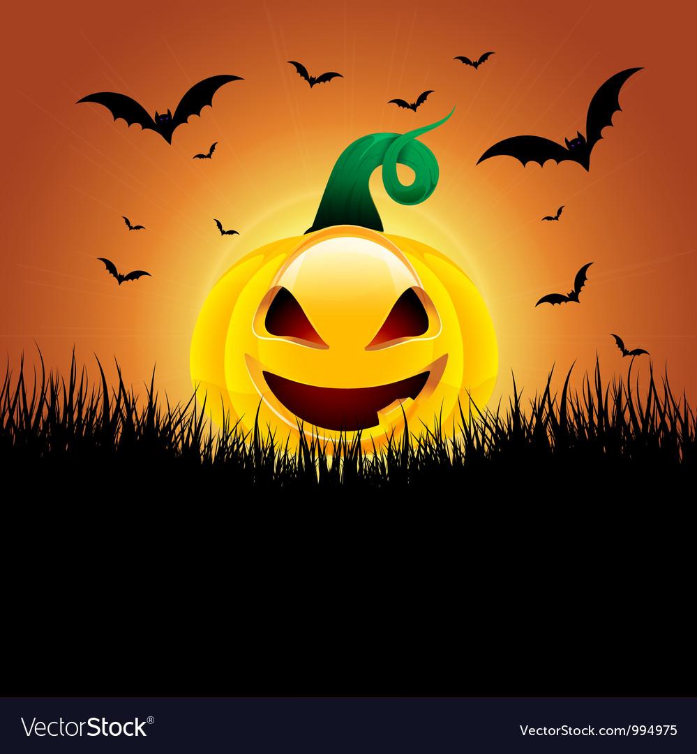 Halloween pumpkin background vector   Price: 1 Credit (USD $1)