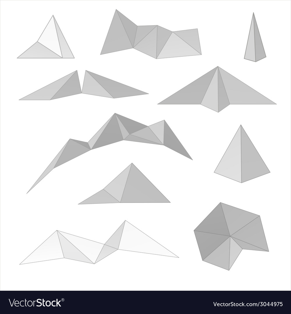 Mountain gray abstract set vector | Price: 1 Credit (USD $1)