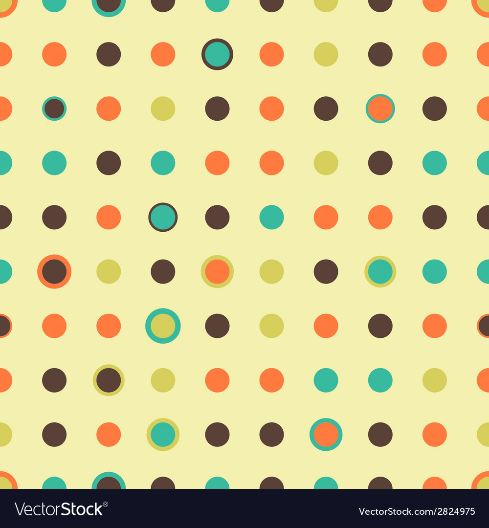 Seamless pattern with polka dot vector | Price: 1 Credit (USD $1)