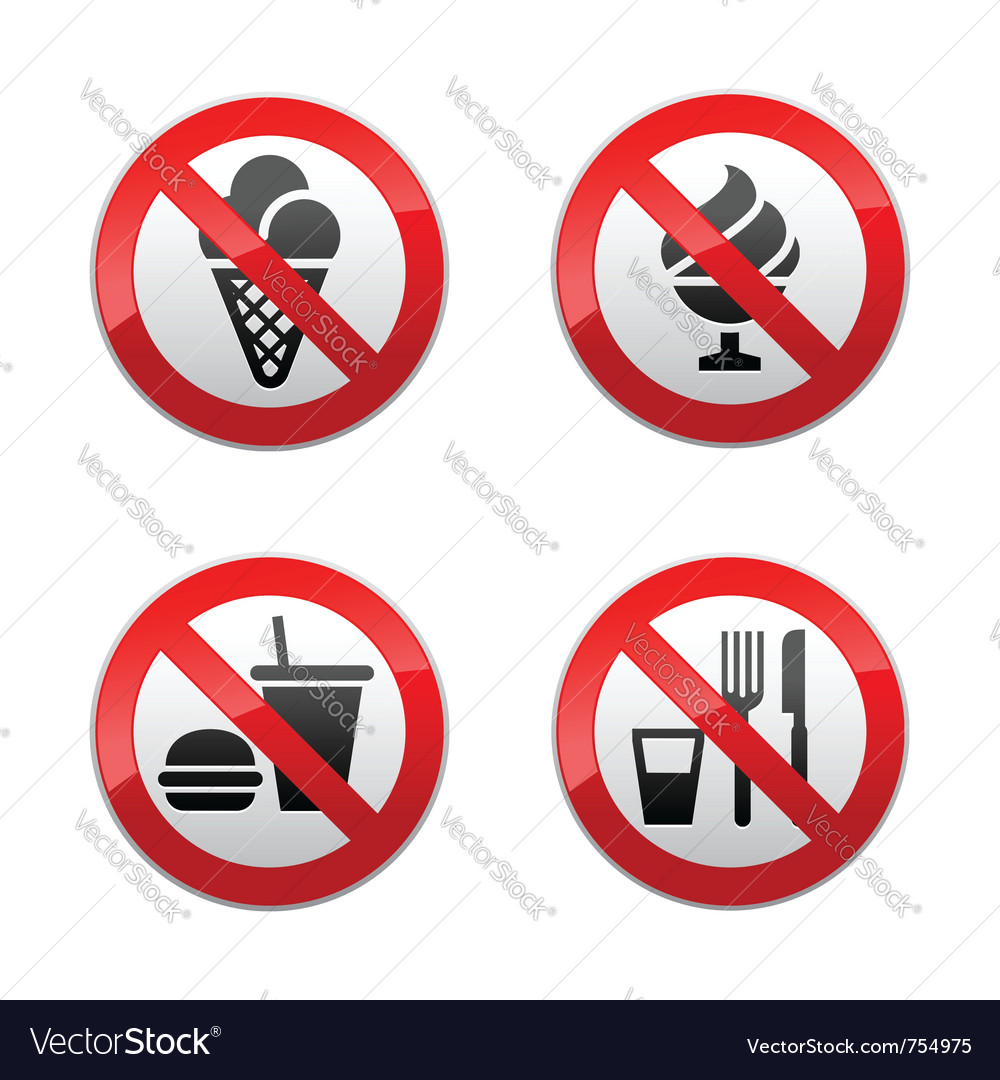 Set prohibited signs - foods vector | Price: 1 Credit (USD $1)