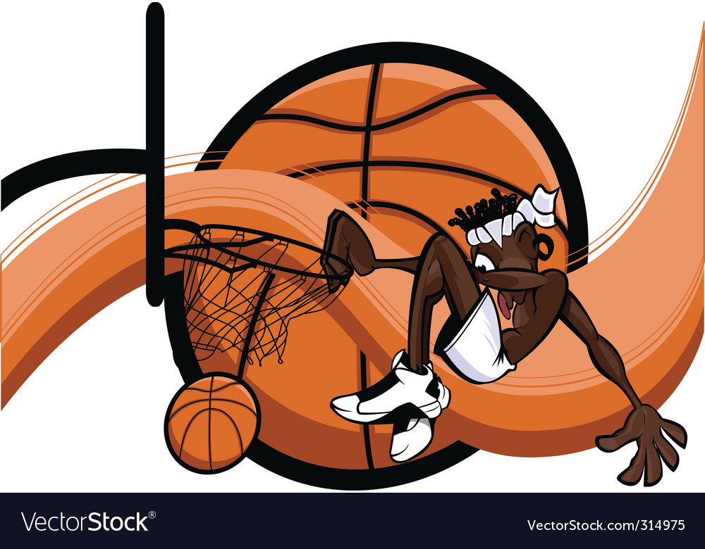 Slam dunk abstract vector | Price: 3 Credit (USD $3)