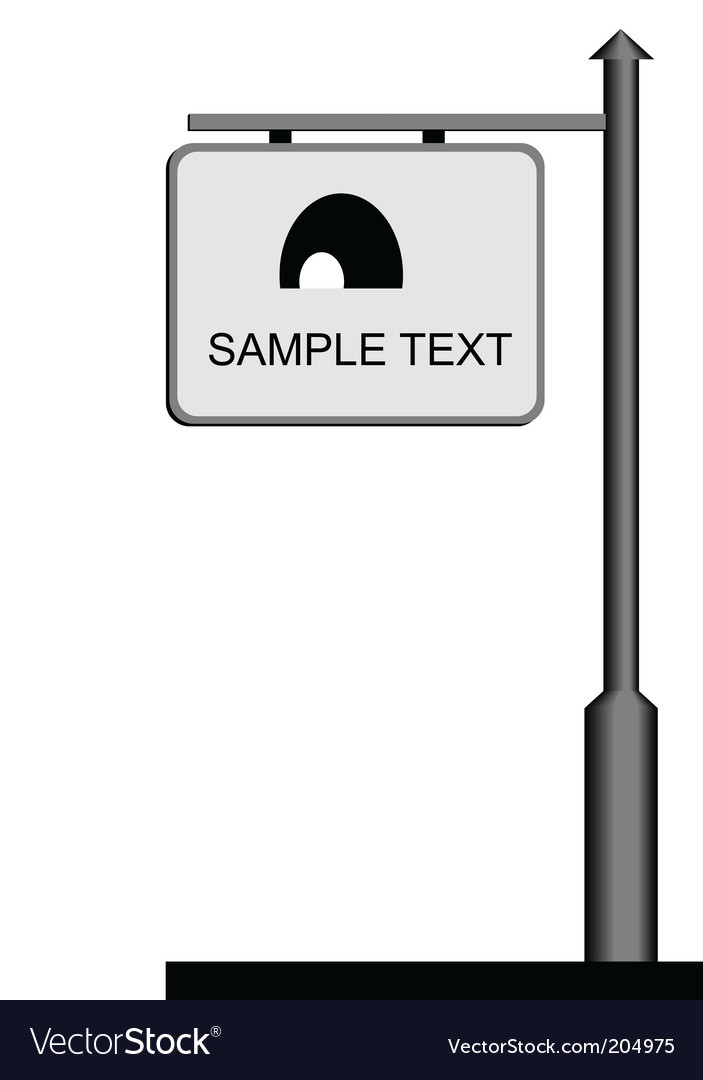 Street notice board vector | Price: 1 Credit (USD $1)