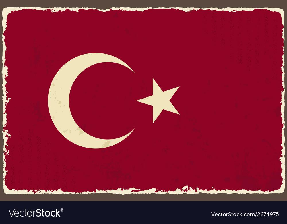 Turkish grunge flag vector   Price: 1 Credit (USD $1)