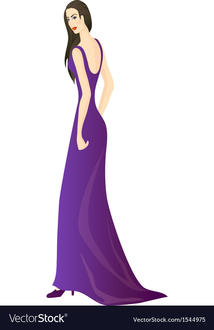 Violet dress vector | Price: 1 Credit (USD $1)