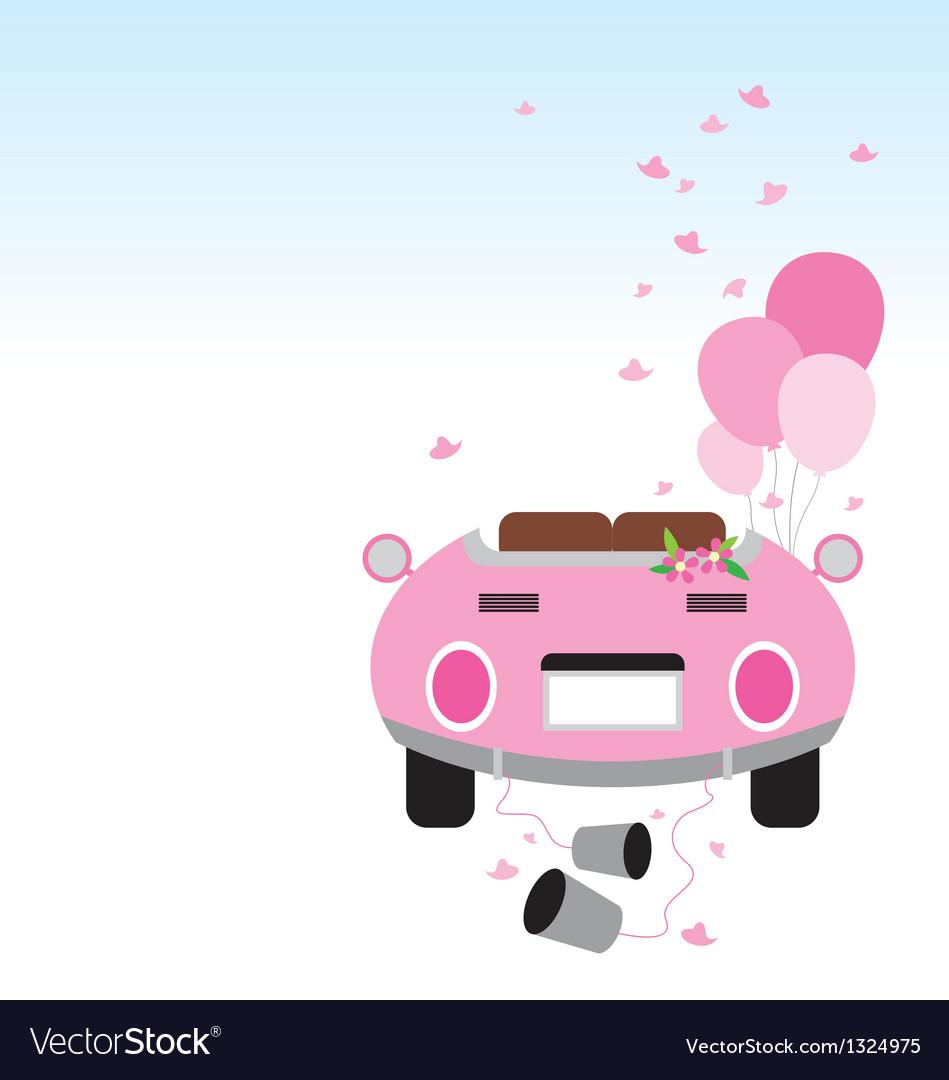 Wedding car design vector | Price: 1 Credit (USD $1)