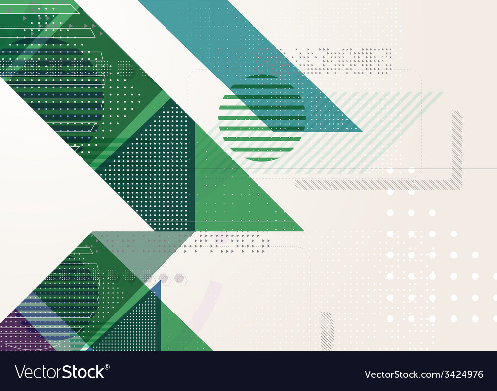 Abstract triangle brochure flyer design vector | Price: 1 Credit (USD $1)
