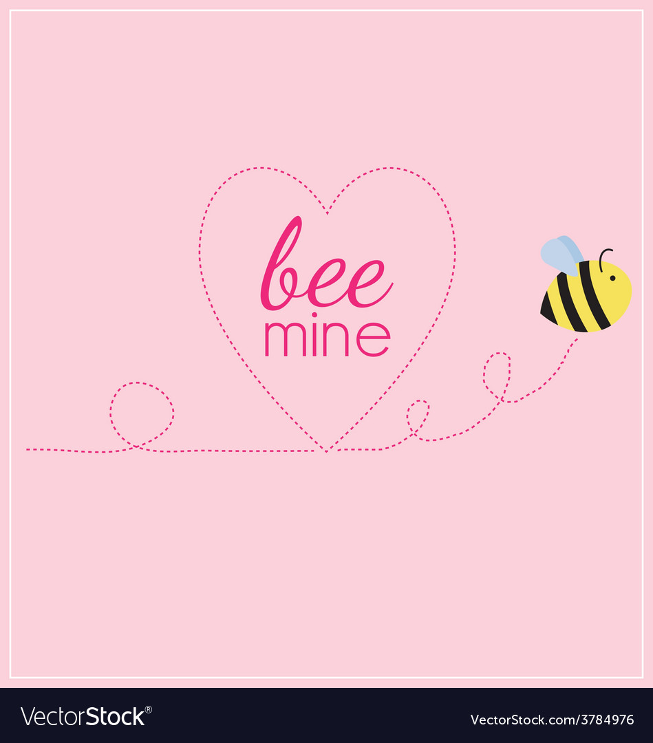 Bee mine heart vector