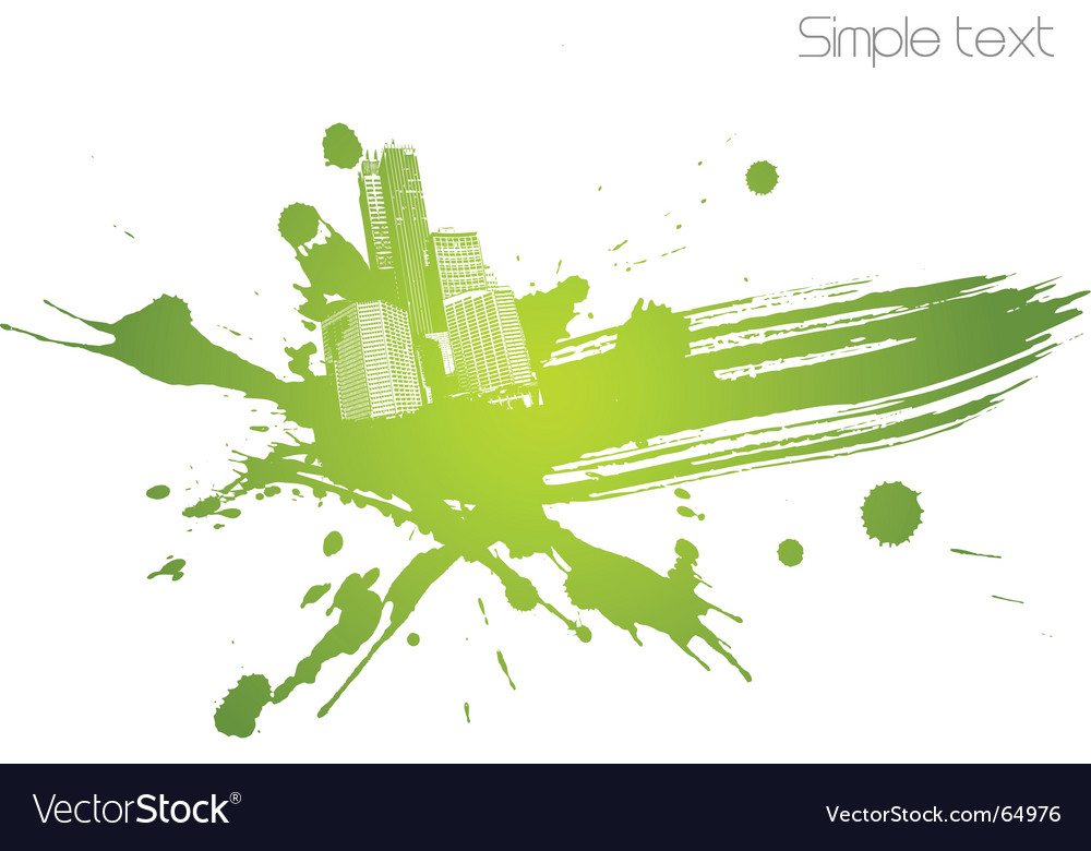 City splatter vector | Price: 1 Credit (USD $1)