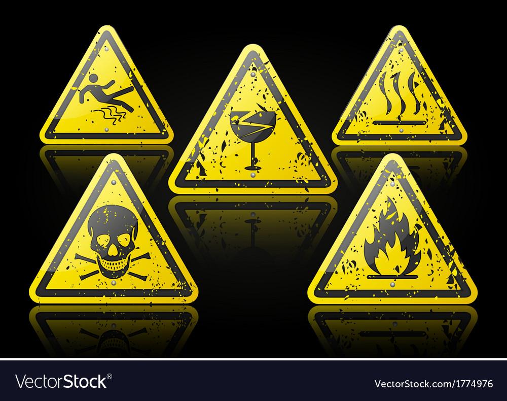 Grunge danger sign vector | Price: 1 Credit (USD $1)