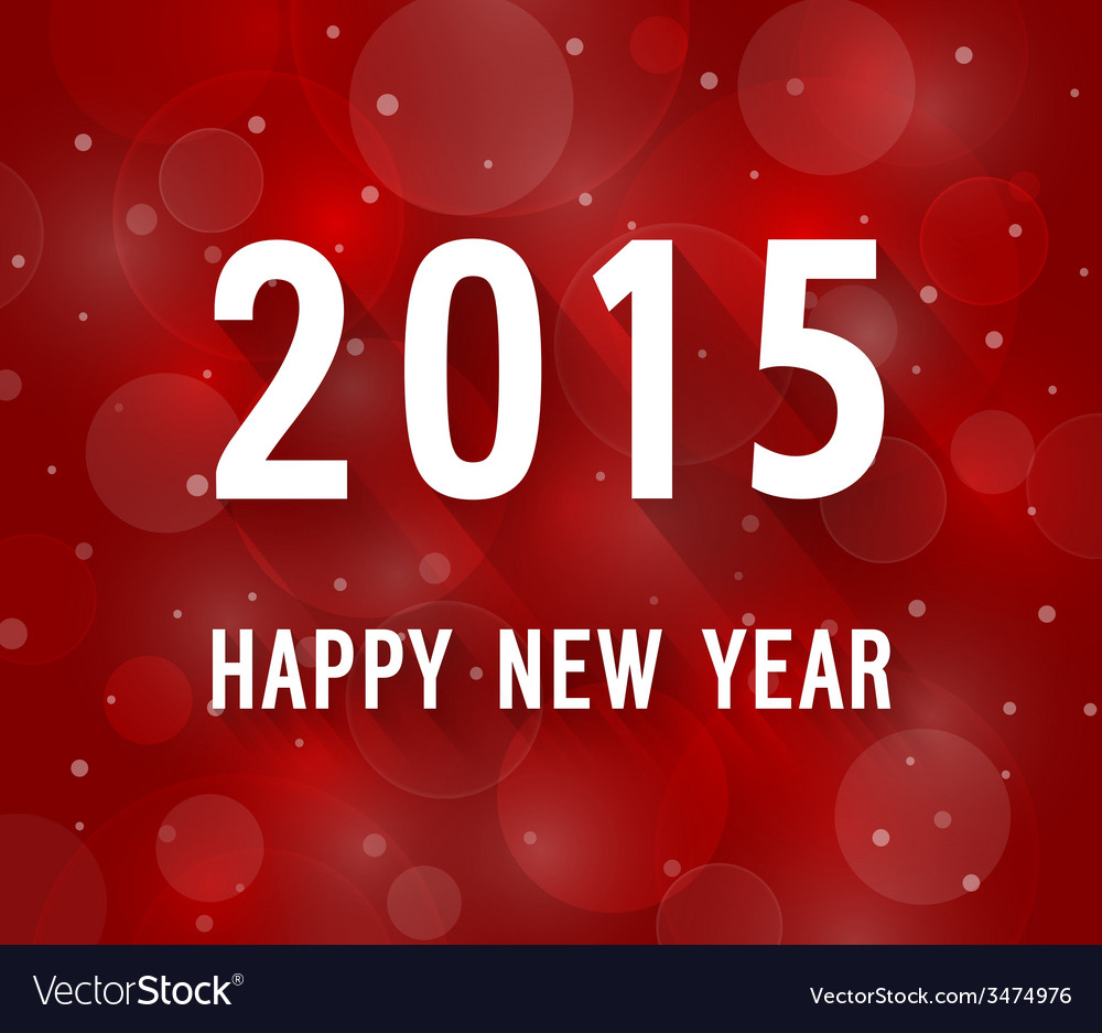 Happy new year 2015 creative paper greeting card vector | Price: 1 Credit (USD $1)