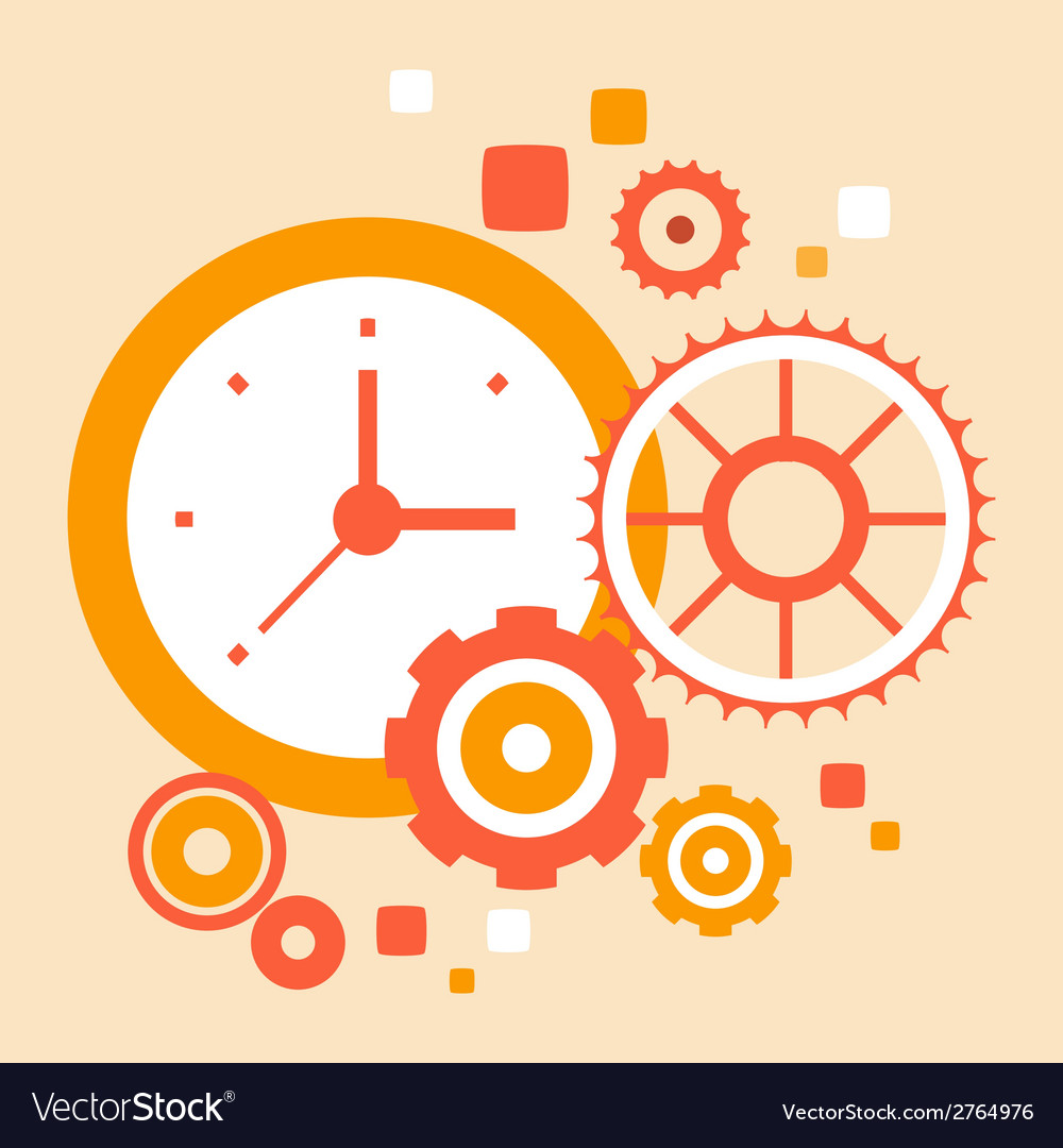 Hard work time vector | Price: 1 Credit (USD $1)