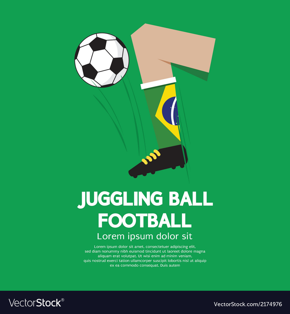 Juggling ball football or soccer vector | Price: 1 Credit (USD $1)
