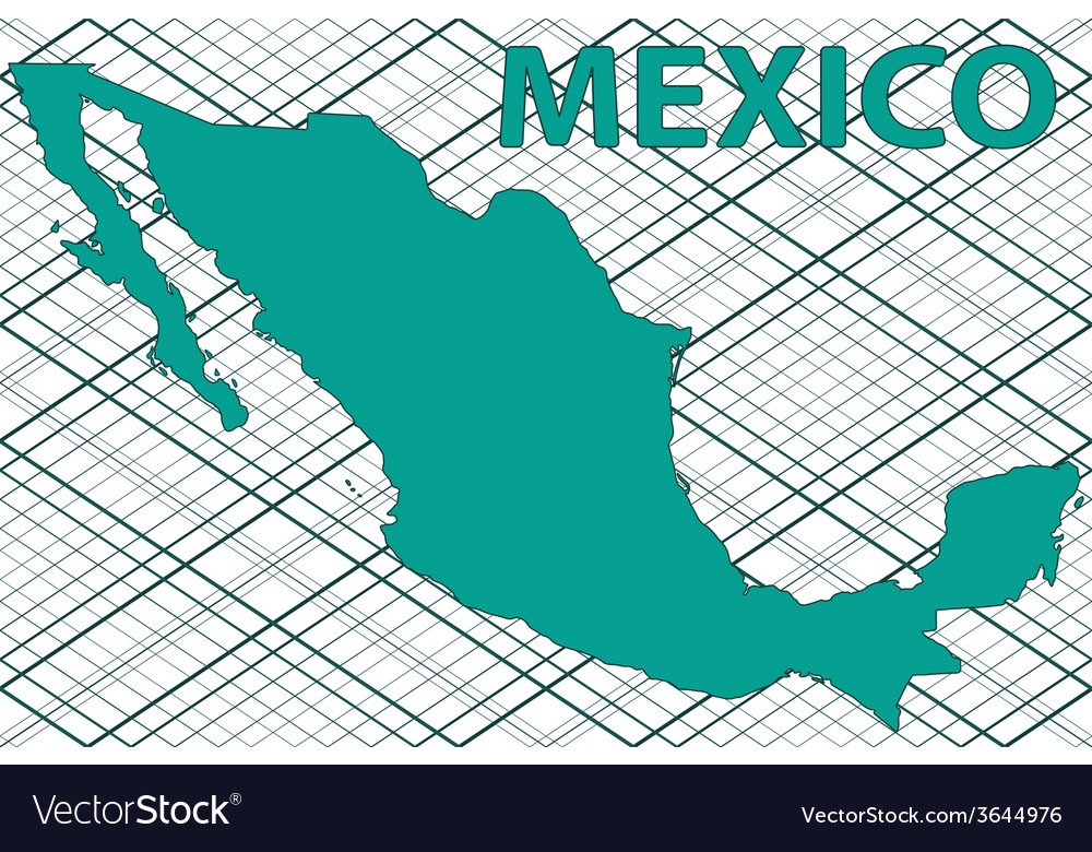 Mexico map vector | Price: 1 Credit (USD $1)