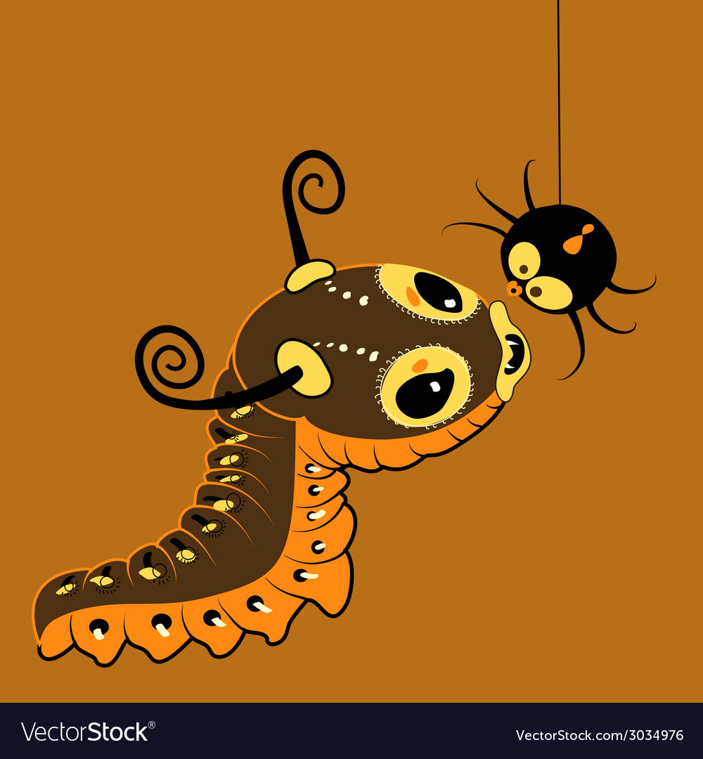 Monster-caterpillar with spider vector | Price: 1 Credit (USD $1)