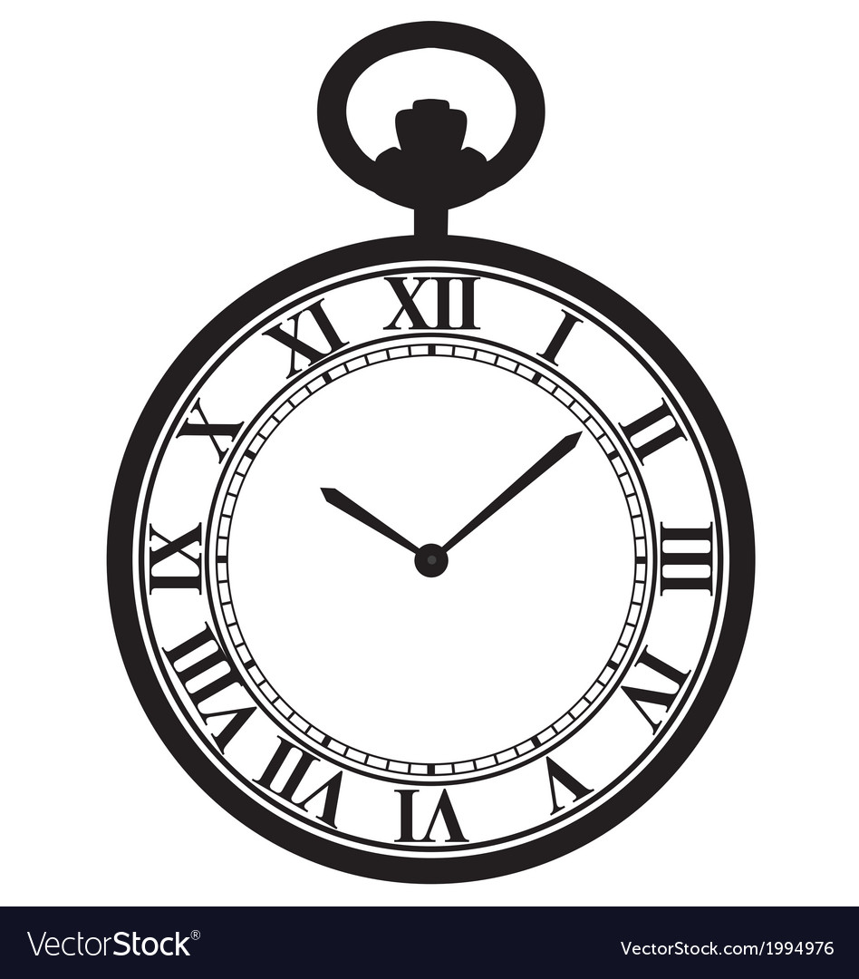 Pocket watch vector | Price: 1 Credit (USD $1)