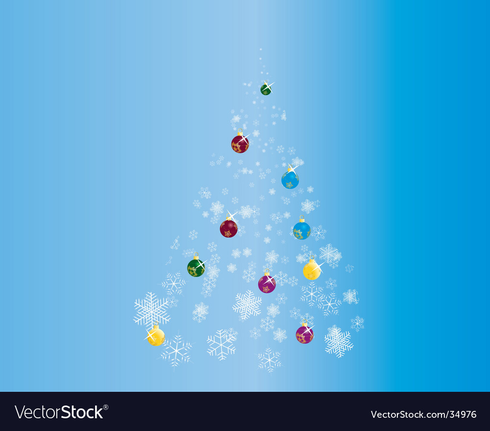 Snowflake christmas tree vector | Price: 1 Credit (USD $1)