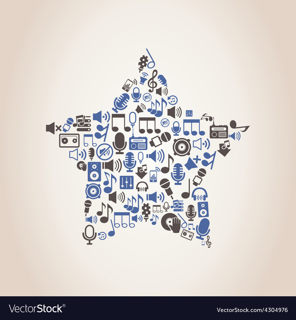 Star music vector | Price: 1 Credit (USD $1)