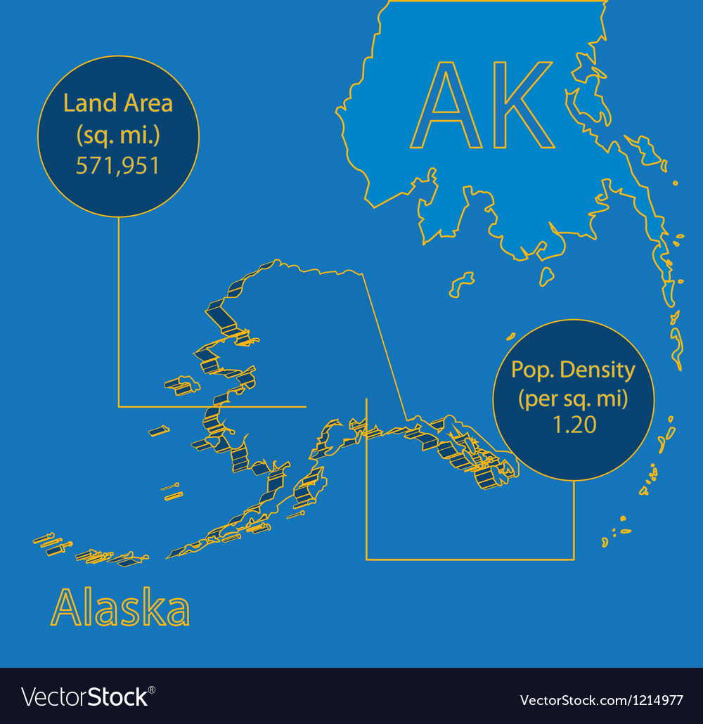 Alaska 3d info graphic vector | Price: 1 Credit (USD $1)