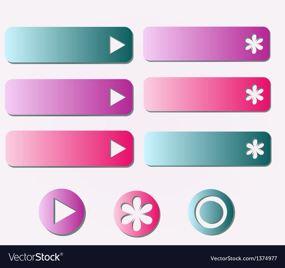 Buttons set vector | Price: 1 Credit (USD $1)