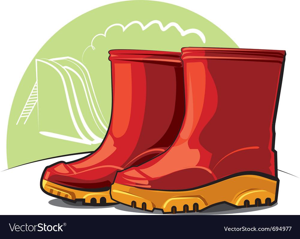 Children rubber boots vector   Price: 3 Credit (USD $3)