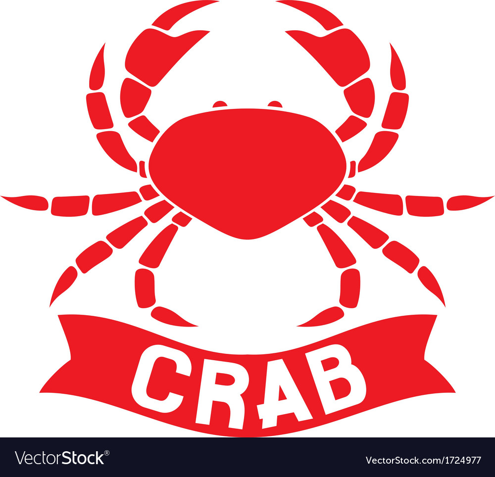 Crab label vector | Price: 1 Credit (USD $1)